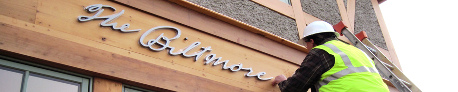 Duke signs designed signage for the biltmore